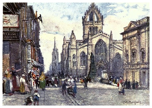 004-Iglesia de San Giles-Edinburgh, painted by John Fulleylove- 1904