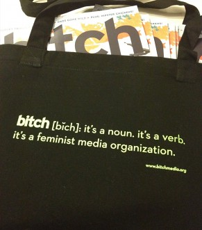 image of black Bitch tote bag