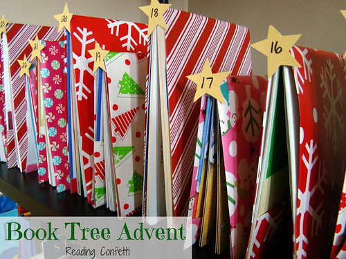 Book Tree Advent (Photo from Reading Confetti)
