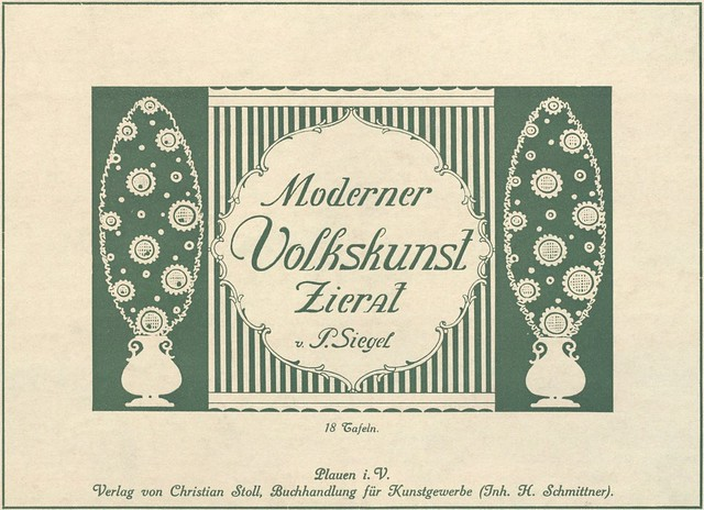 Moderner Volkskunst Zierat title page