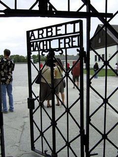Visitors to Dachau walk through the same  gate as the prisoners who died there from  its opening in 1933 to its liberation by  American forces in 1945. It is now a memorial.