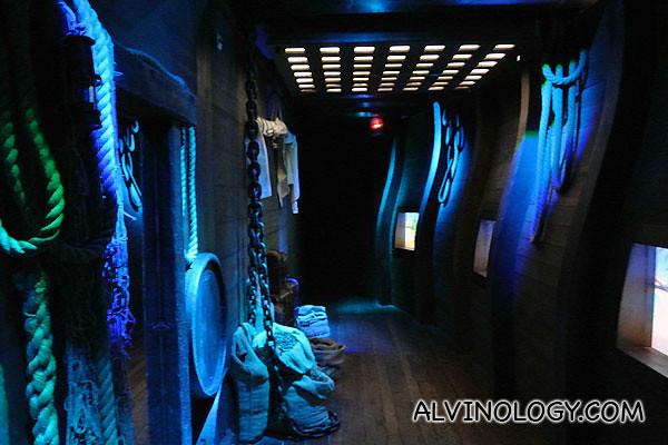 Inside of a cargo ship