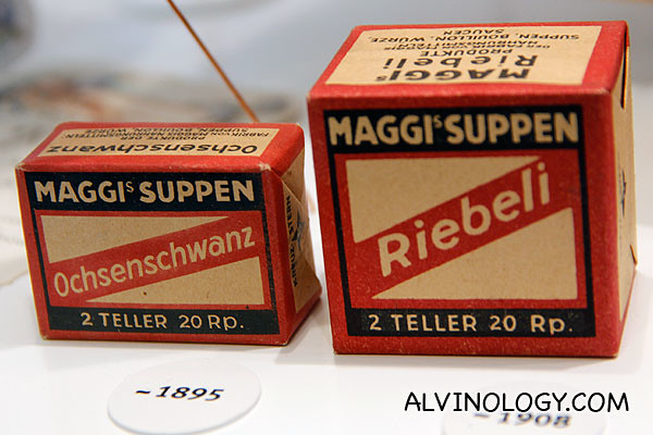 Maggi cube from 1895