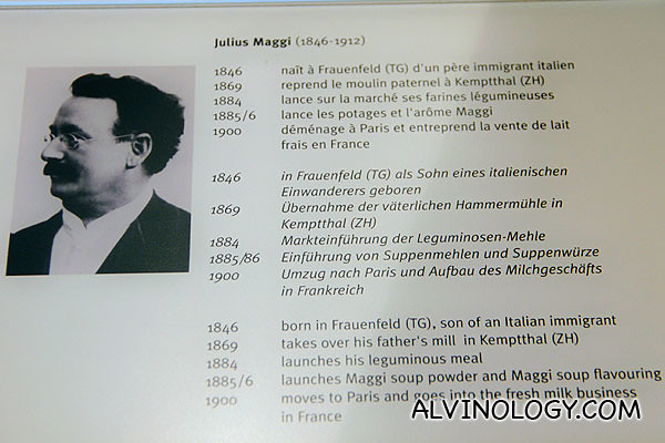 Julius Maggi, the founder of Maggi which was later acquired by Nestle