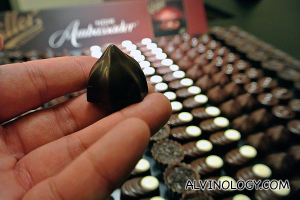 I can't remember how many of these chocolate bits I popped into my mouth! I just had to try all of them
