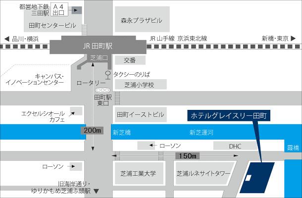 tamachi map