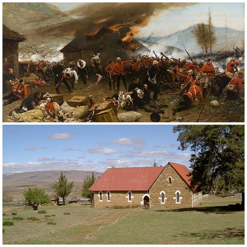 The Mission Station at Rorke's Drift - Then & Now - 1879 & 2009