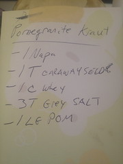 Pomegranate Sauerkraut - Pom Kraut #3