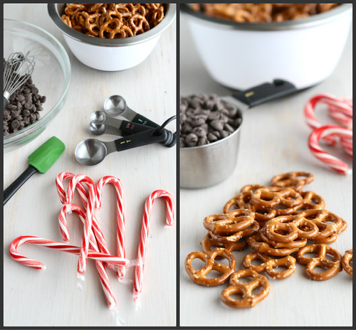 Chocolate Covered Pretzels Recipe with Crushed Candy Canes