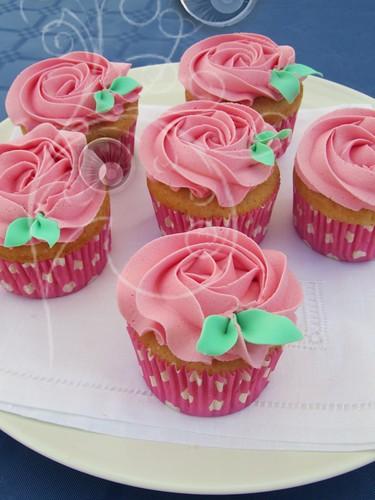 cupcakes-topos rosas