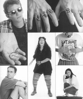 """A fashion spread for the Fall 1996 issue of Pomona College Magazine focusing on """"Sagehen style"""""""