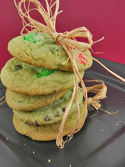 Minty Grinch Cookies