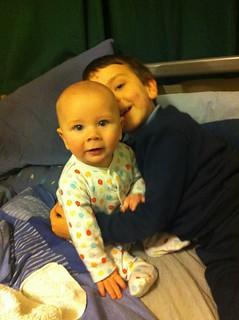 Brothers cuddling 2