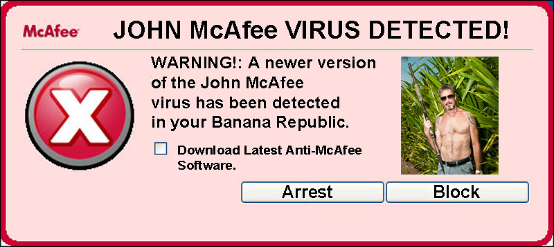 McAFEE VIRUS WARNING