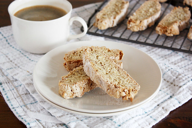 vanilla almond spiced biscotti.