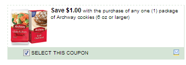 $1.00/1 Archway Cookies 6 Oz Or Larger Coupon