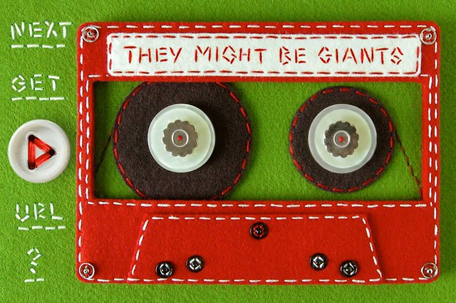 She Made a Felt Cassette Tape for They Might Be Giants' iPhone App