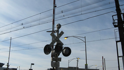 The East 83rd Street railroad crossing.  Chicago Illinois.  Sunday, November 25th, 2012. by Eddie from Chicago