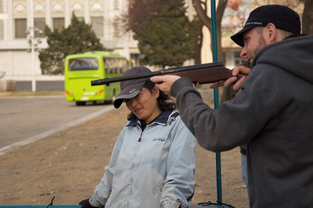 Tourist with a Pyongyang Pop Gun