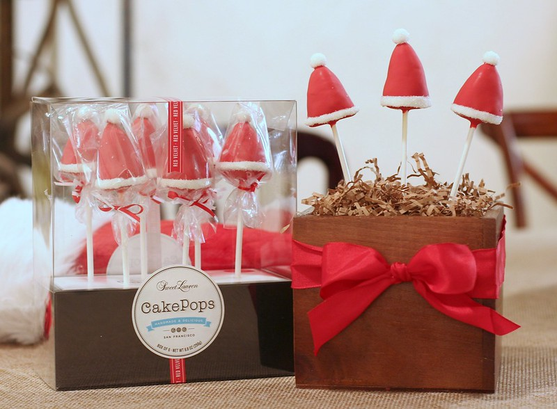 Santa Hat Red Velvet Cake Pops