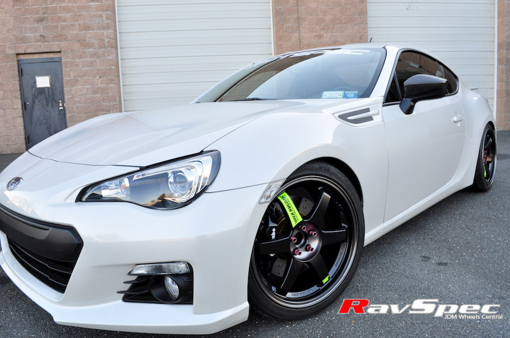 rays volk racing te37sl black edition on subaru brz frs. Black Bedroom Furniture Sets. Home Design Ideas