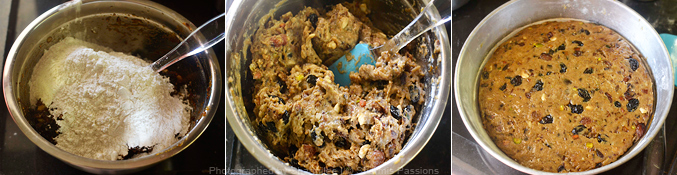 Eggless Christmas Fruit Cake Recipe - Step4