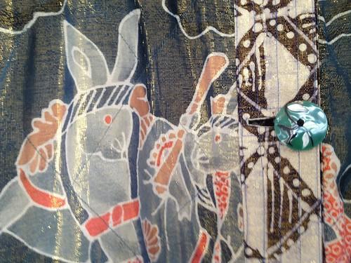 rabbit kimono detail