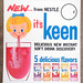 1963 Nestle's KEEN Drink Mix Store Display Sign by gregg_koenig
