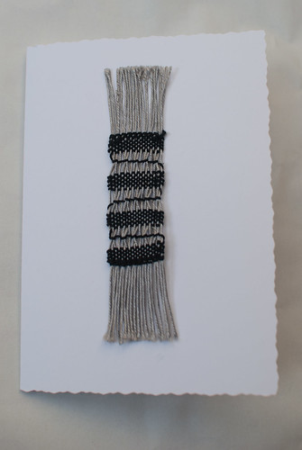Weaving project 25 - mounted as a card decoration