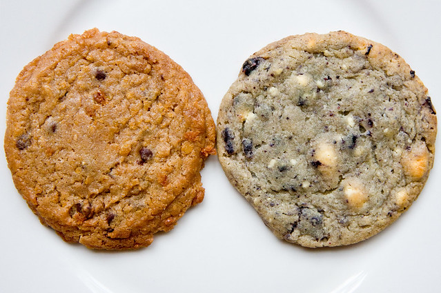Cornflake chocolate chip marshmallow cookie and blueberry and cream cookie, Momofuku Milk Bar
