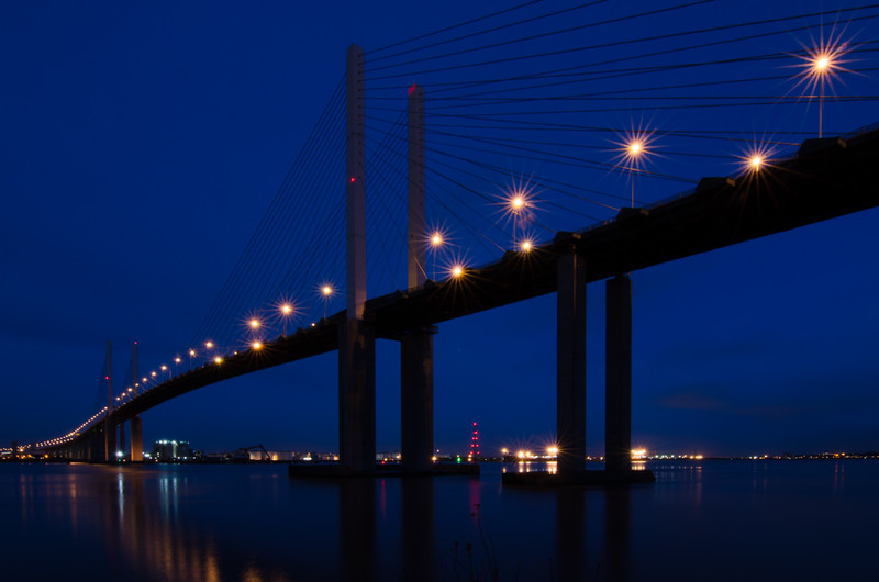 QEII Bridge by night