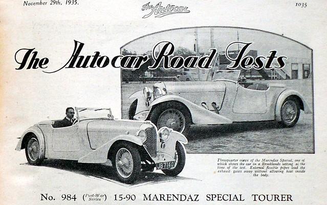1935 Marendaz Special 15/90 Tourer