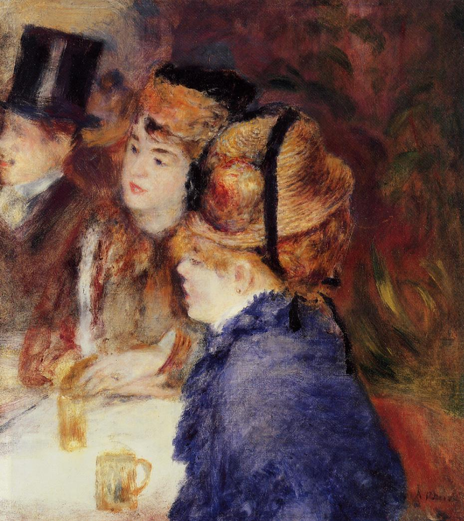 At the Cafe by Pierre Auguste Renoir - 1877