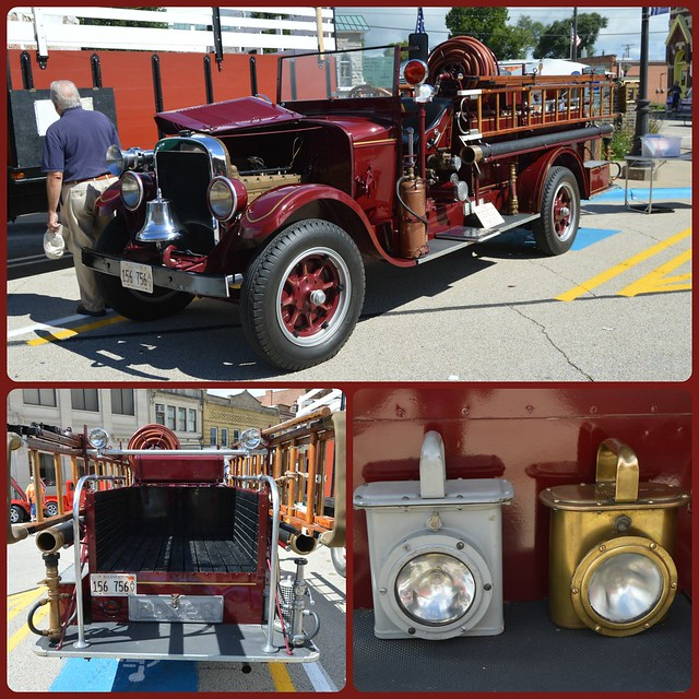 1930  Polo, Illinois Fire Truck.   The 27th Annual Polo, Illinois Chamber Of Commerce Car Show.  2016.