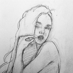 #girl #journal #pencil #drawing