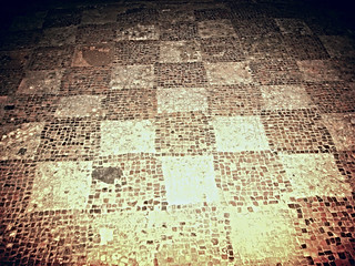 Mosaics, Brading Roman Villa, Isle of Wight, October 2012