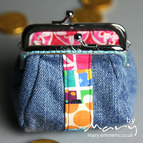 Denim coin purse - back
