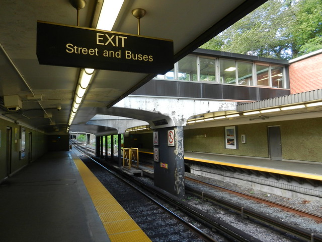 Toronto TTC Rosedale Station Waiting Train Exit Canada Subway