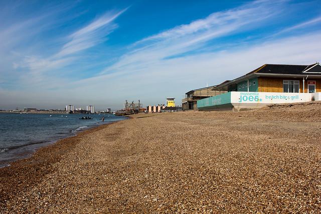 Playa de Southsea en Portsmouth