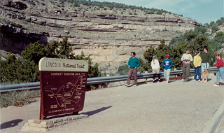 1990 spring break trip to New Mexico, led by Professor Rick Hazlett. Destinations included White Sands, Carslbad Caverns and Chiricahua National Monument. Photo submited by Dave Dwiers, seniro machinist in the chemistry department.