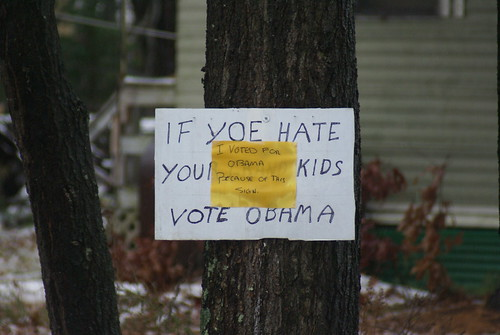 I VOTED FOR OBAMA BECAUSE OF THIS SIGN