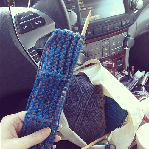 Just started knitting some booties for the love of my life :) #lunchbreak #knit