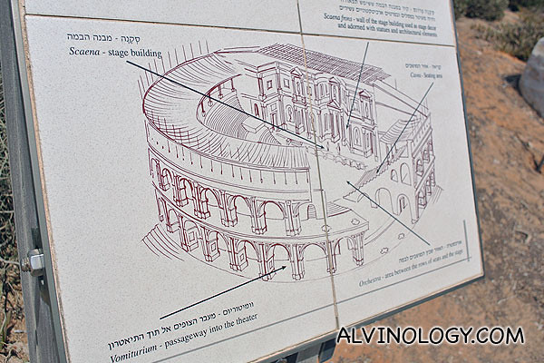 Artist's impression of the Roman theatre when it was intact