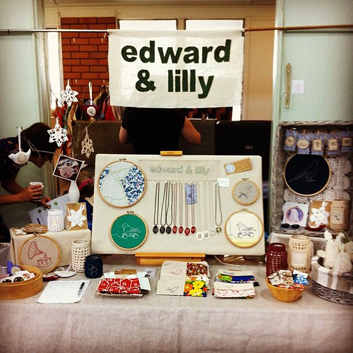 All set up at the @brisstyle indie eco market #brisstyle #bieco