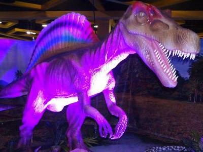 Dinosaur Animatronics decorated the Haunted House