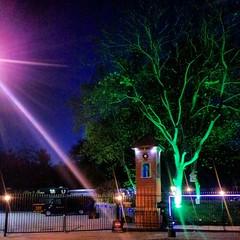 rainbow(0.0), christmas lights(0.0), landscape lighting(1.0), light(1.0), street light(1.0), darkness(1.0), night(1.0), lighting(1.0),