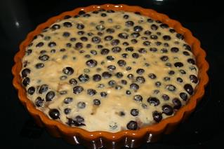 Drunken Blueberry Custard Cake