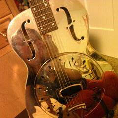 This shiny, shiny guitar makes me wish we were here during 7 Days.