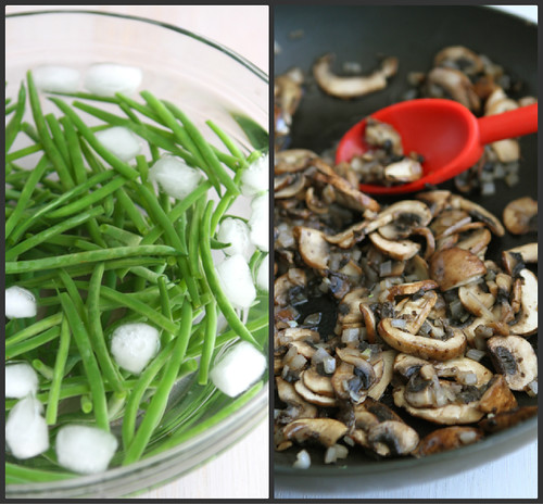Fresh Green Beans with Bacon, Mushrooms & Herbs Recipe by Cookin' Canuck