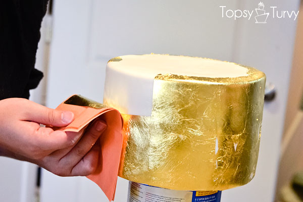 edible-gold-leaf-tutorial-cake-second-layer   Flickr ...